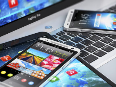 Image of modern mobile devices